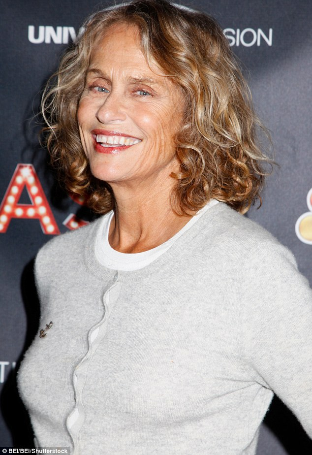 American model and actress Lauren Hutton, 72, is one of a group of older faces representing brands