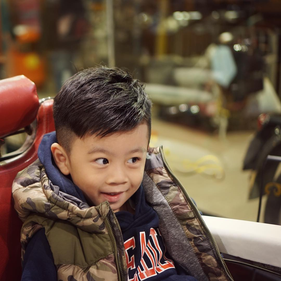 Fade haircuts for little boys and toddlers