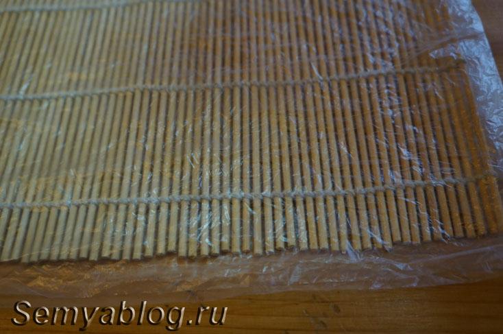 бамбуковый коврик для роллов в домашних условиях