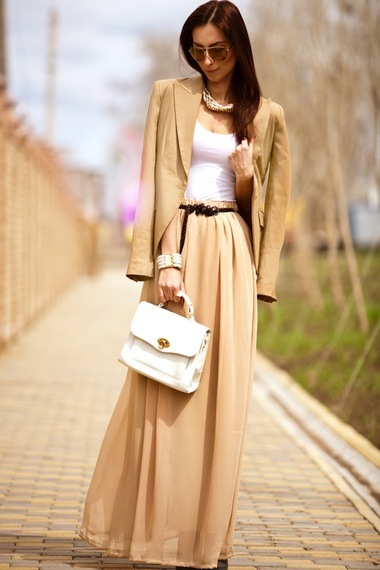 юбка в пол деловой стиль