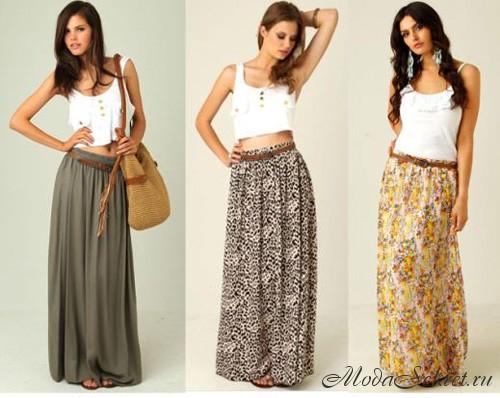 С чем носить юбку в пол для разных фигур и стилей | Семейный блог ...
