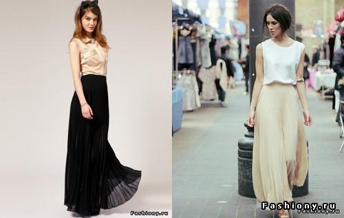 Черная юбка в пол лето
