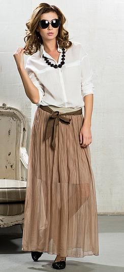 юбка в пол с аксессуарами