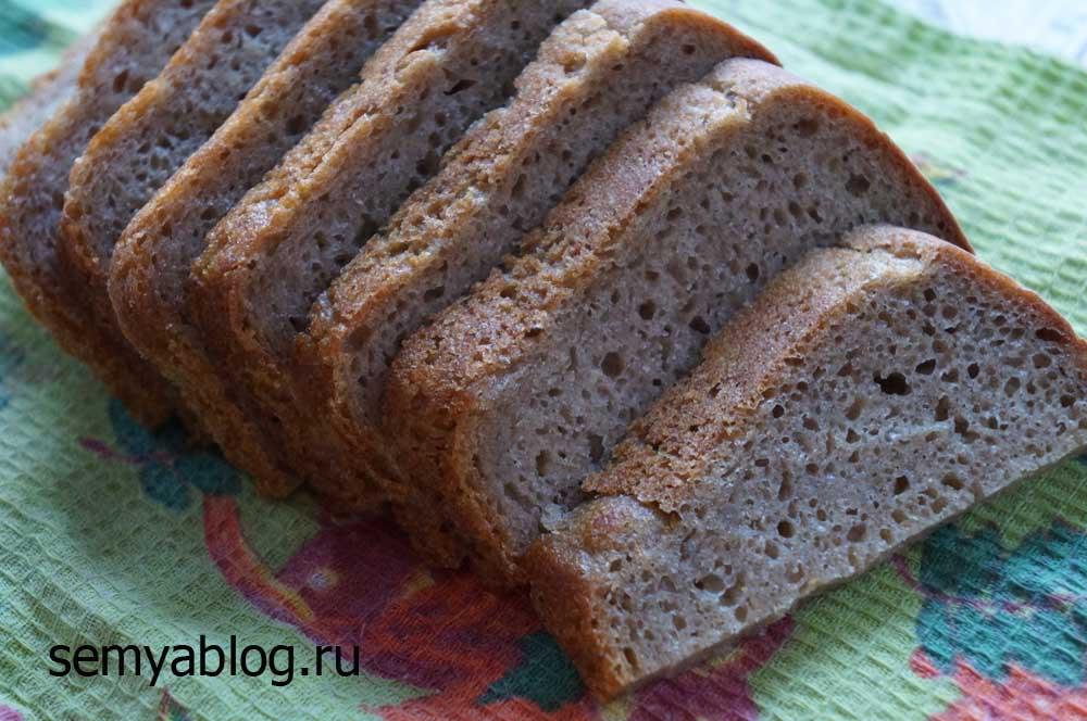 ржаной хлеб на закваске с хрустящей корочкой