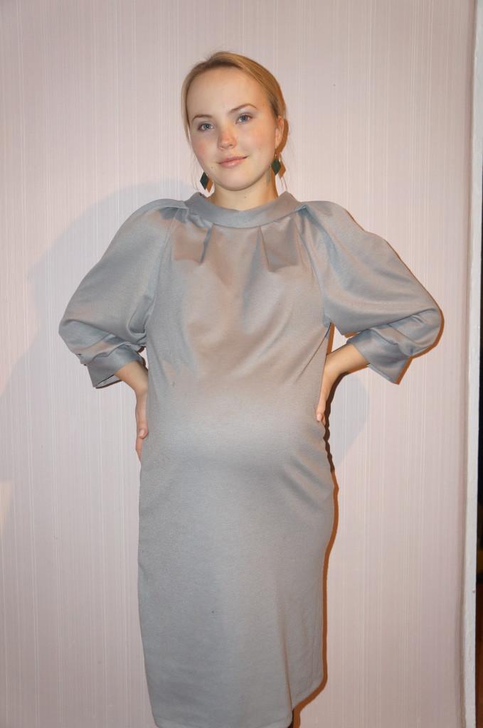 сшить теплое трикотажное платье для беременных