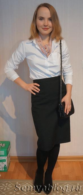 Базовый гардероб без брюк. Юбка карандаш и белая рубашка