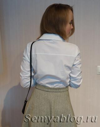 белая рубашка базовая