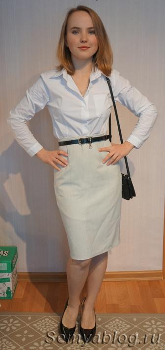 Базовый гардероб без брюк. Белая рубашка