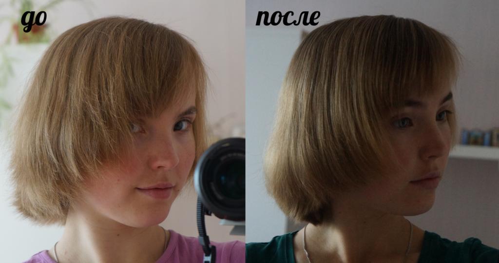 как сделать сухие волосы гладкими